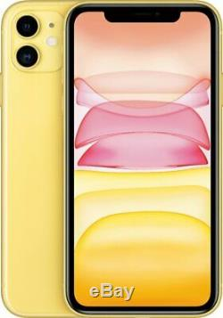Apple iPhone 11 Yellow 128GB Verizon AT&T T-Mobile Fully Unlocked Smartphone