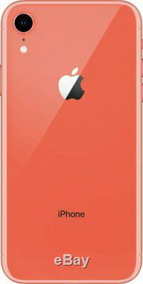 Apple iPhone XR 128GB Coral Verizon T-Mobile AT&T Fully Unlocked Smartphone