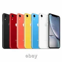 Apple iPhone XR 64GB 128GB 256GB Factory Unlocked AT&T Verizon T-Mobile