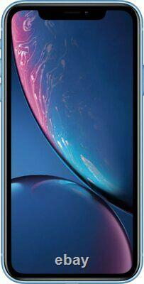 Apple iPhone XR 64GB Blue Verizon T-Mobile AT&T Metro Fully Unlocked Smartphone