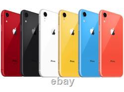 Apple iPhone XR Smartphone 64GB 128GB AT&T Sprint T-Mobile Verizon or Unlocked