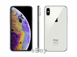 Apple iPhone XS Max 512GB Silver Verizon T-Mobile AT&T Fully Unlocked Smartphone