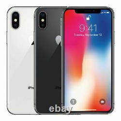 Apple iPhone X 256GB 64GB GSM/ CDMA Factory Unlocked Verizon / AT&T / T-Mobile