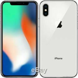 Apple iPhone X 256GB Mobile Smart iOS phone Silver Unlocked A1901 B Grade