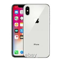 Apple iPhone X 256GB Silver Verizon T-Mobile AT&T Fully Unlocked Smartphone