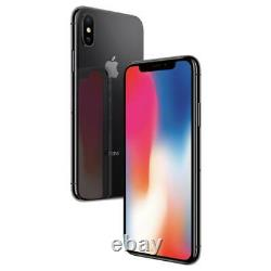 Apple iPhone X 64GB Factory Unlocked AT&T T-Mobile Silver Smartphone