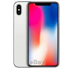 Apple iPhone X 64GB Factory Unlocked Silver Smartphone Mobile A1865 64 10 iOS