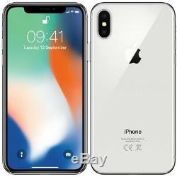 Apple iPhone X 64GB Silver Factory GSM Unlocked AT&T / T-Mobile Smartphone