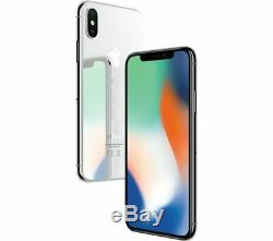 Apple iPhone X 64GB Silver T-Mobile AT&T Metro Cricket GSM Unlocked Smartphone