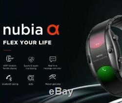 Brand New ZTE Nubia Alpha 4 Flexible CurvedScreen Wrist Mobile Smartphone Watch