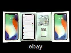Factory Unlocked Apple iPHONE X 64GB AT&T T-MOBILE Verizon Cricket Metro + Box