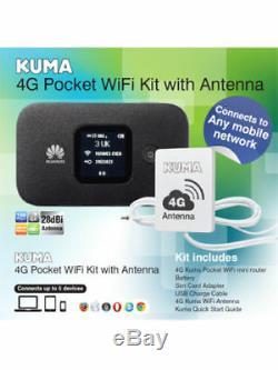 Kuma Caravan Motorhome 4G Unlocked Internet Mobile Hotspot WiFi Kit + Antenna