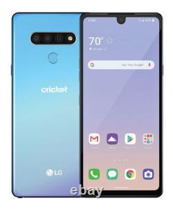 NEW LG STYLO 6 BLUE 64GB Cricket Unlocked AT&T Sprint T-Mobile Metro