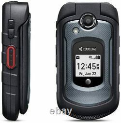 New Kyocera Dura XE E4710 Black 8GB Rugged Flip Phone AT&T T-Mobile Unlocked LTE