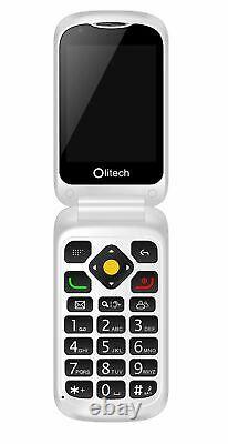 Olitech EasyFlip 4G Unlocked Mobile Phones Seniors Elderly Big Button