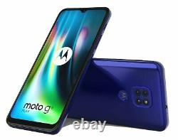 SIM Free Motorola G9 Play 6.5 Inch 64GB 48MP 4G Mobile Phone Sapphire Blue