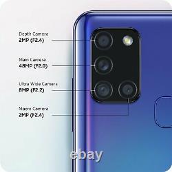 SIM Free Samsung A21s 6.5 Inch 3GB 48MP 4G Android Dual Sim Mobile Phone Blue