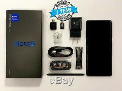 Samsung Galaxy Note 8 Black N950U1 Factory Unlocked AT&T Verizon Sprint T-Mobile
