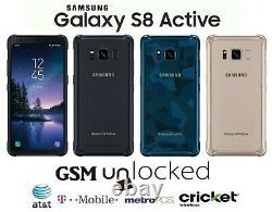 Samsung Galaxy S8 Active 64GB (GSM Unlocked) T-Mobile AT&T MetroPCS Cricket