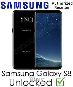 Samsung Galaxy S8 G950U 64GB Black AT&T T-Mobile Sprint Verizon Factory Unlocked