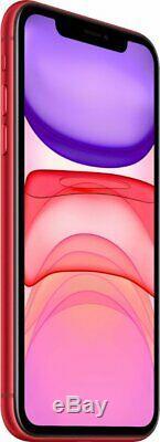 Unlocked Apple iPhone 11 256GB Red Verizon T-Mobile AT&T Sprint Smartphone