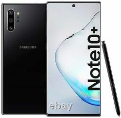 Unlocked Samsung Galaxy Note 10+ plus N975U 256GB Black AT&T T-Mobile Open Box
